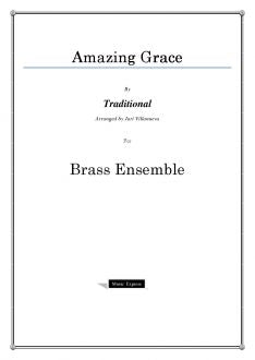 Traditional - Amazing Grace - Brass Choir