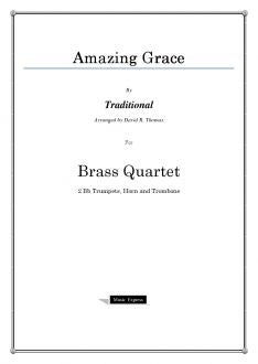 Traditional - Amazing Grace - Brass Quartet