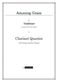 Traditional - Amazing Grace - Clarinet Quartet