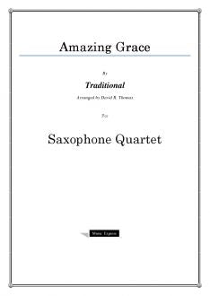 Traditional - Amazing Grace - Saxophone Quartet