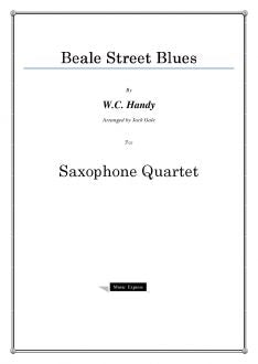 Traditional - Beale Street Blues - Saxophone Quartet