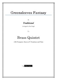 Traditional - Greensleeves Fantasy - Brass Quintet