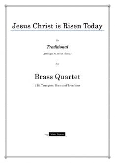 Traditional - Jesus Christ is Risen Today - Brass Quartet