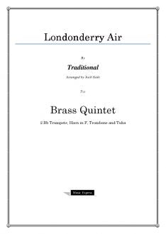 Traditional - Londonderry Air - Brass Quintet