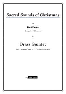 Traditional - Sacred Sounds of Christmas - Brass Quintet