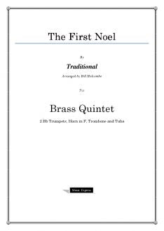 Traditional - The First Noel - Brass Quintet