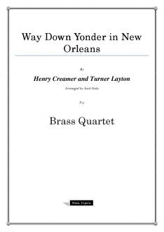 Layton - Way Down Yonder in New Orleans - Brass Quartet