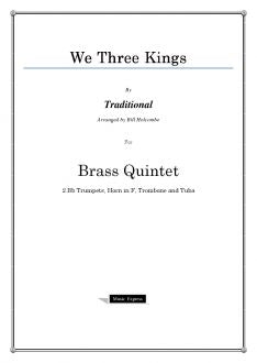 Traditional - We Three Kings - Brass Quintet
