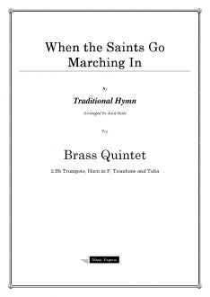 Traditional - When the Saints Go Marching In - Brass Quintet