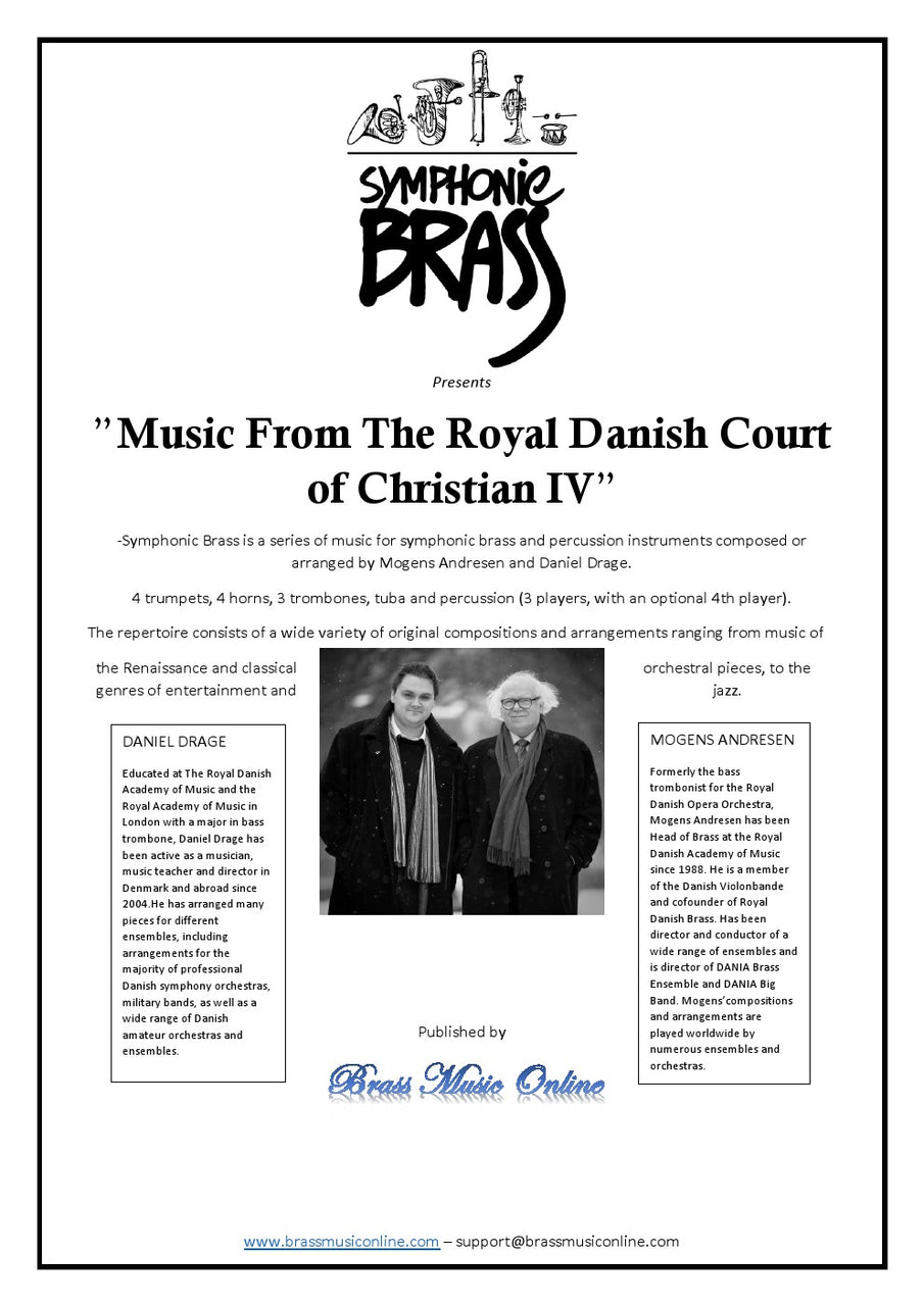 Various - Music From The Royal Danish Court of Christian IV - Symphonic Brass