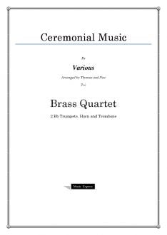 Various - Ceremonial Music - Brass Quartet