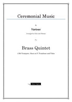Various - Ceremonial Music - Brass Quintet