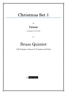 Various - Christmas Set 1 - Brass Quintet