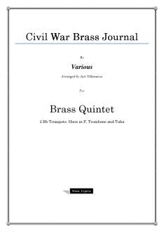 Various - Civil War Brass Journal - Brass Quintet