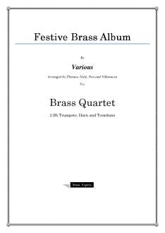 Various - Festive Brass Album - Brass Quartet