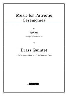 Various - Music for Patriotic Ceremonies - Brass Quintet