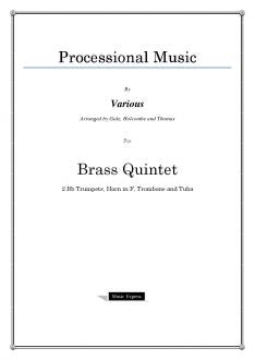 Various - Processional Music - Brass Quintet