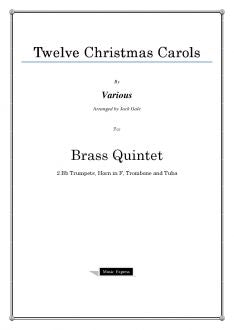 Various - Twelve Christmas Carols - Brass Quintet