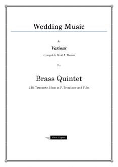 Various - Wedding Music - Brass Quintet