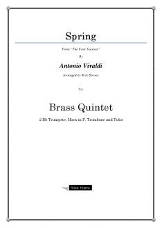 "Vivaldi - Spring from ""The Four Seasons"" - Brass Quintet"
