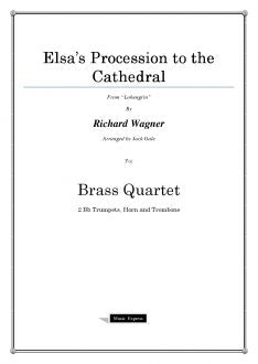 Wagner - Elsa's Procession to the Cathedral - Brass Quartet