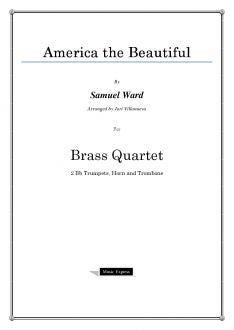 Ward - America the Beautiful - Brass Quartet