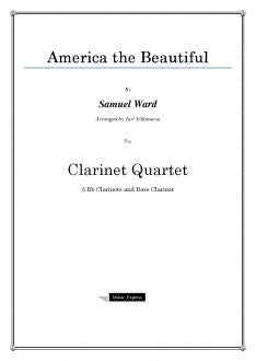 Ward - America the Beautiful - Clarinet Quartet