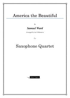 Ward - America the Beautiful - Saxophone Quartet