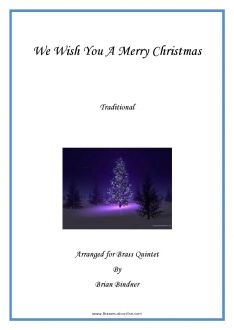 We Wish You a Merry Christmas - Brass Quintet
