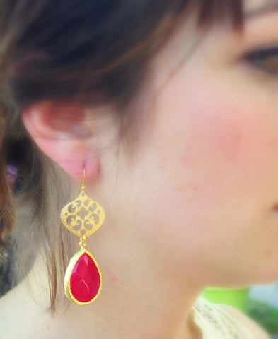Bohemian Medium Drop Earrings
