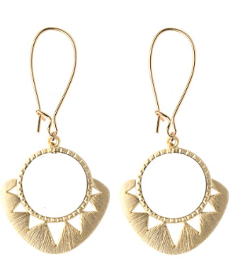 Geometric Sun Earrings