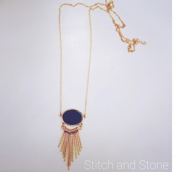 Druzy Fringe Necklace