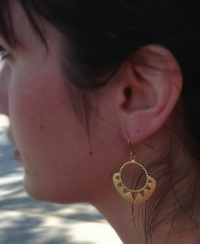 Aztec Sun Earrings