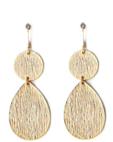 Double Drop Scratch Earrings