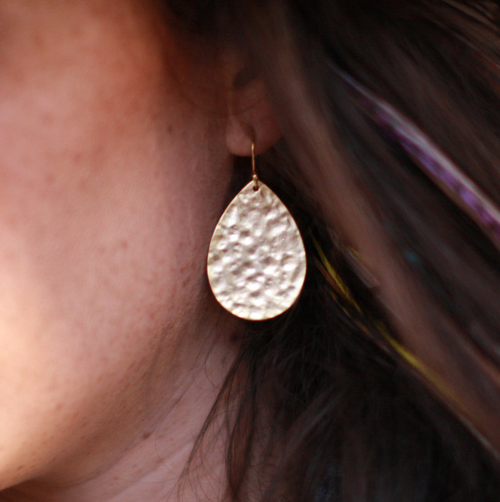 Hammered Egg Earrings