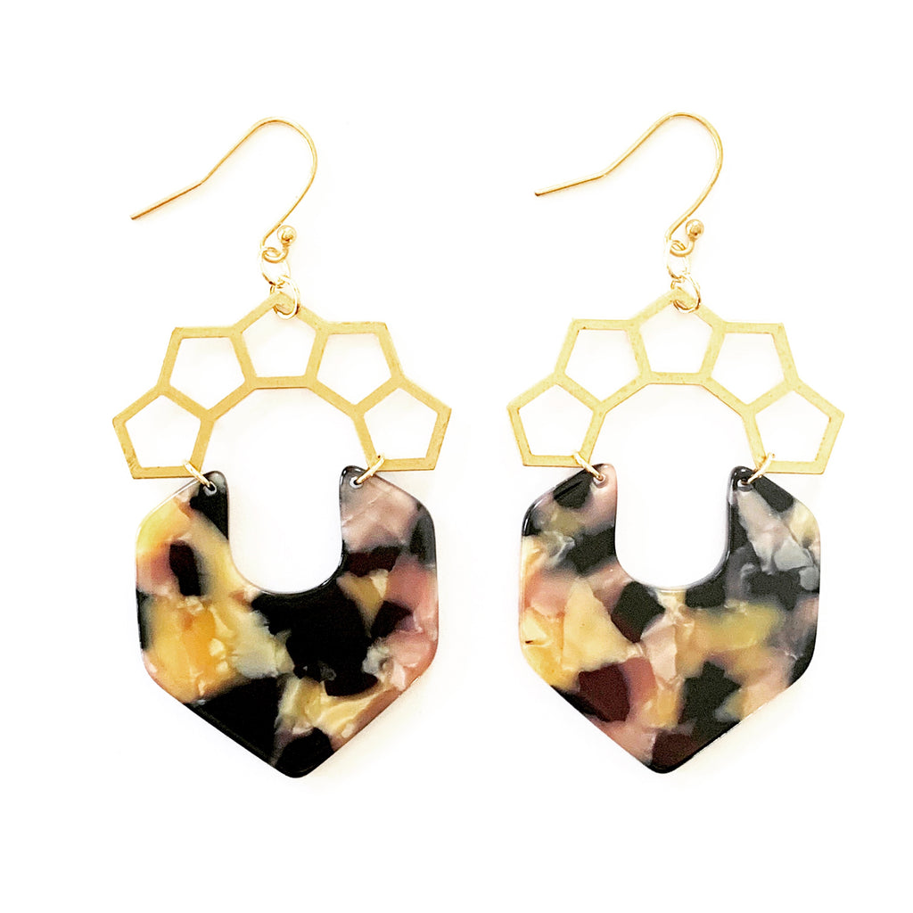 Acetate Crown Earrings