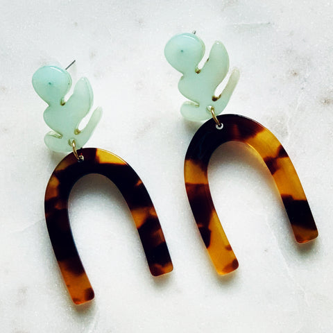 Matisse Tortoise Shell Acrylic Earrings