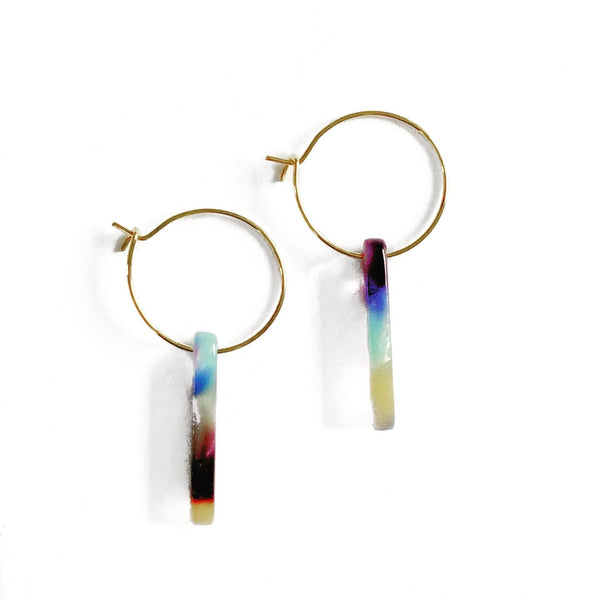 Acrylic Bar Hoop Earrings