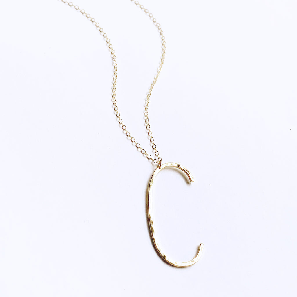 Extra Large Initial Necklace