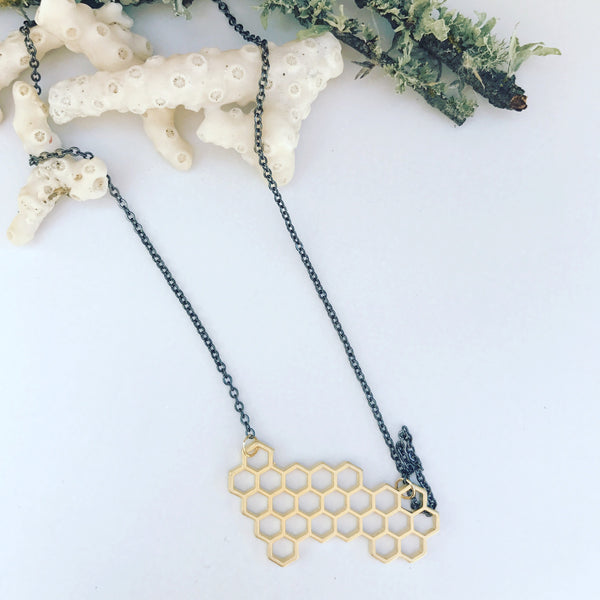 Honey Comb Necklace