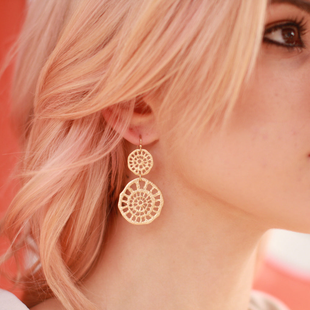 Organic Circle Earrings