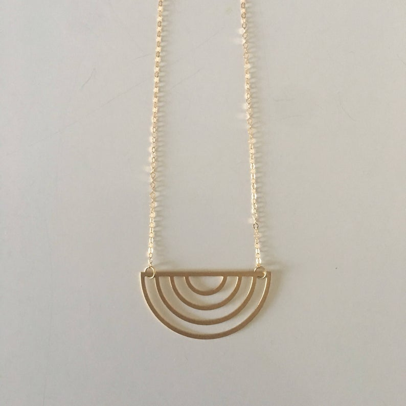 Upside Down Rainbow Necklace