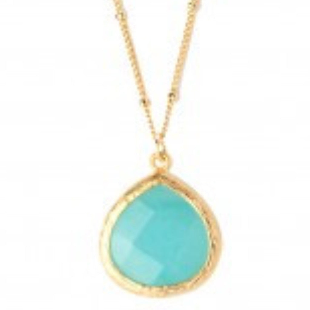 Small Aqua Drop Necklace
