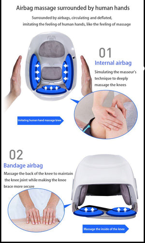 Laser Heated Air Massage Knee Physiotherapy Instrument Knee Massage Rehabilitation Pain Relief