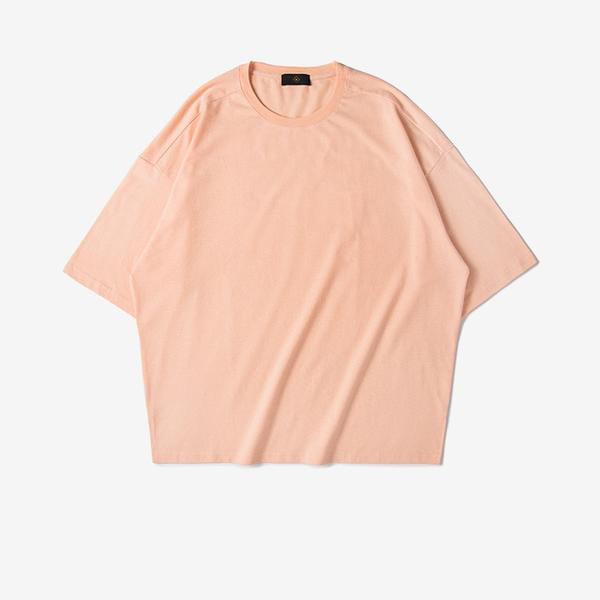 Casual Solid Elbow Length Tee