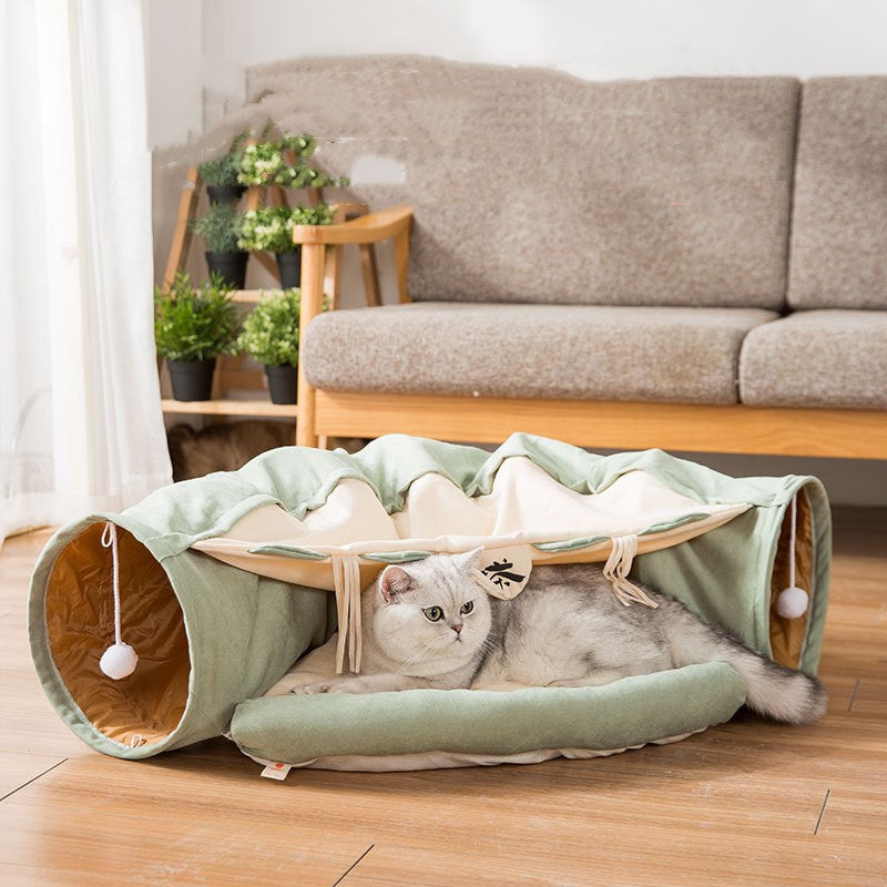Soft Cat Tunnel With Bed