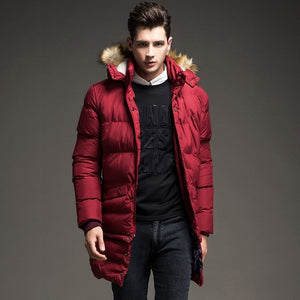 Fashion Faux Fur Hood Padded Quilted Coat
