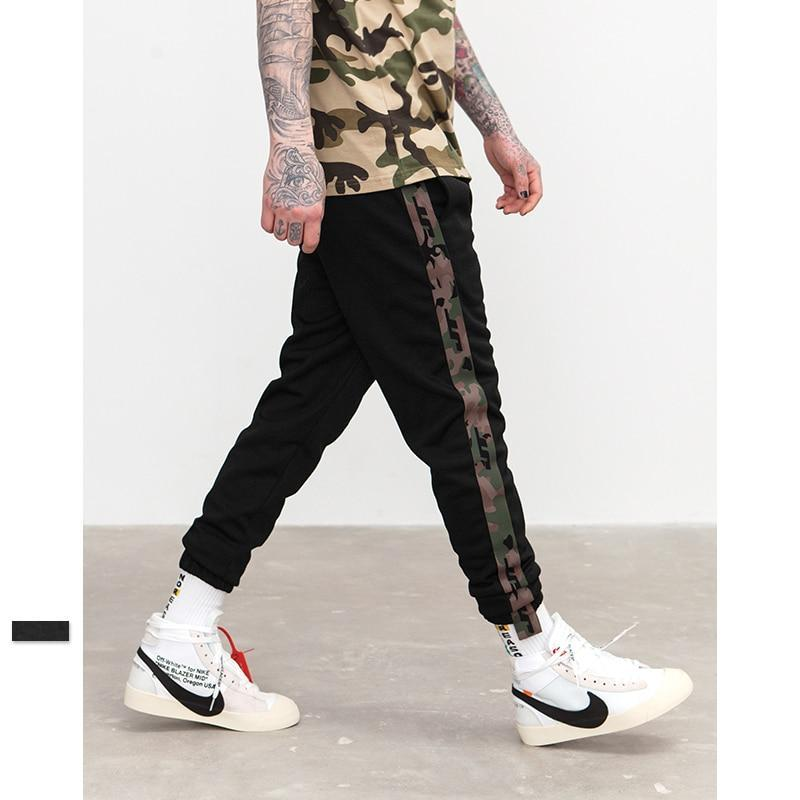 Camouflage Side Stripe Highstreet Sweatpants