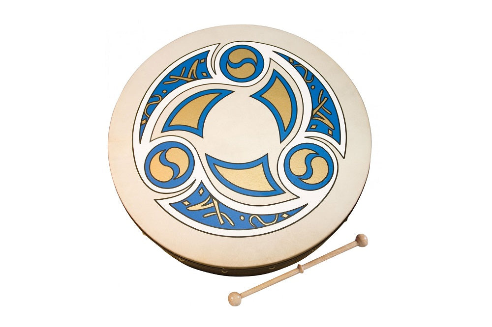 Bodhrán with Trinity Motif