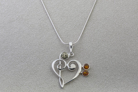 Amber treblebass clef heart necklace mim store online amber treblebass clef heart necklace aloadofball Images